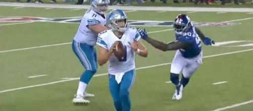Matthew Stafford and the Lions host the Falcons in a showdown between 2-0 teams. [Image Credit: NFL/YouTube]