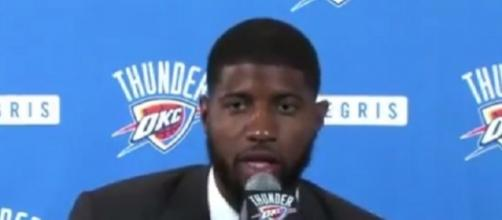 Paul George has a chance to play with legitimate superstars in Westbrook and Anthony -- LETS GO THUNDER via YouTube