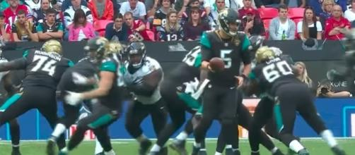 QB Blake Bortles helped lead the Jaguars to a dominant win over the Ravens in London Sunday. [Image Credit: NFL/YouTube]