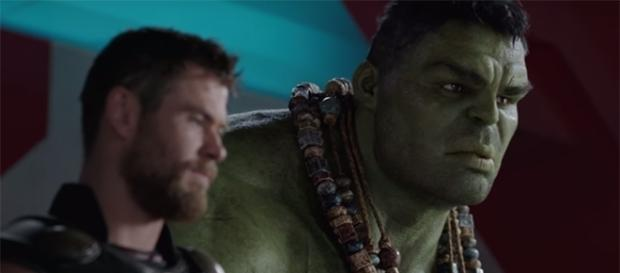 """Chris Hemsworth and Mark Ruffalo reprise their roles as Thor and Hulk in the upcoming """"Ragnarok"""" film. (YouTube/Marvel Entertainment)"""