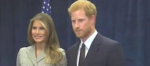 First Lady Melania Trump meet Prince Harry [Image: Hot News/YouTube screenshot]