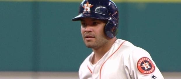 Jose Altuve and the Houston Astros host the Los Angeles Angeles on Sunday night. [Image via MLB/YouTube]