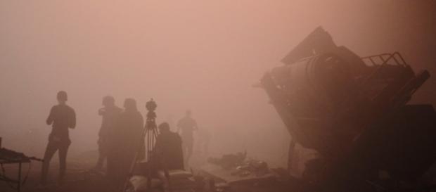 Scatto condiviso da Ron Howard sul set del film su Han Solo.