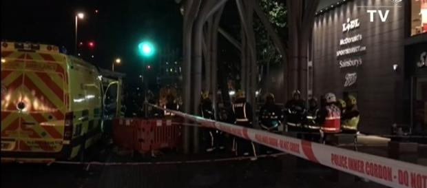 Six people were injured in an acid attack in London on Saturday night [Image: YouTube/AFP news agency]