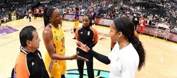 The WNBA Finals tip off on Sunday afternoon with Game 1 between the L.A. Sparks and Minnesota Lynx. [Image via WNBA/YouTube]