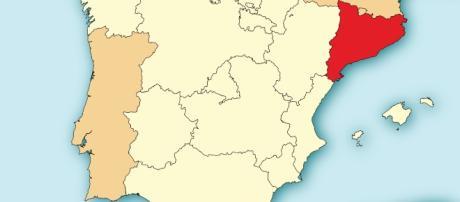Localización de Cataluña en España por Mutxamel/Wikimedia Commons
