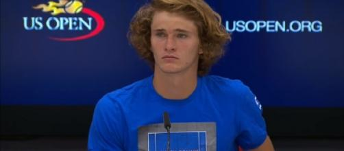 Alexander Zverev during a press conference at 2017 US Open/ Photo: screenshot via US Open Tennis Championships channel on YouTube