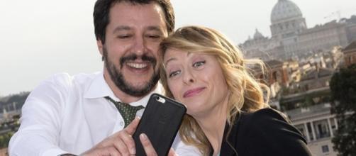 Giorgia Meloni e Matteo Salvini esultano per la vittoria Afd in Germania (immagine di repertorio)