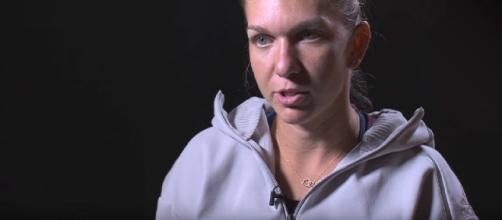 Simona Halep during a pre-tournament interview in Wuhan/ Photo: screenshot via WTA official channel on YouTube