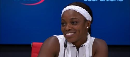 Sloane Stephens at a press conference after winning the 2017 US Open/ Photo: screenshot via US Open Tennis Championships channel on YouTube