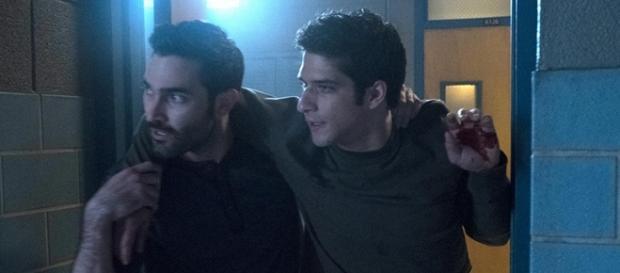 Derek e Scott in una scena del finale di Teen Wolf