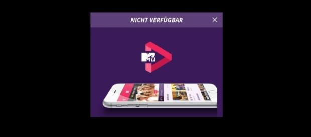 "MTV Play App zeigt seit heute den Hinweis ""Nicht Verfügbar"" - Ende einer kurzen Revolution / Foto: Screenshot privat"