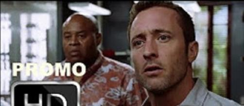 "Alex O'Loughlin's future is ablaze with danger in the ""Hawaii Five-O"" Season 8 premiere on Sep 29. Screencap Network Promos/YouTube"