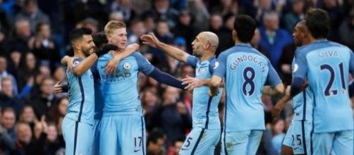 Manchester City celebrates... - thesun.co.uk