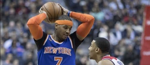 Carmelo Anthony during his days with the New York Knicks. Image Credit: Keith Allison, Flickr