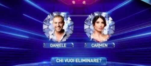 Daniele Bossari e Carmen Di Pietro al GF Vip