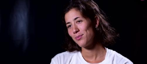 Garbine Muguruza during a pre-tournament interview in Wuhan. [Image Credit: WTA/YouTube]