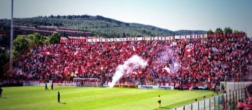 I tifosi del Perugia Calcio allo stadio
