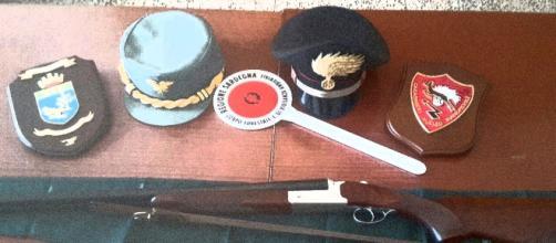 Il fucile utilizzato per uccidere la nutria a Musei.