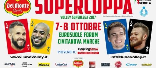 il manifesto della Supercoppa Italiana di pallavolo maschile 2017