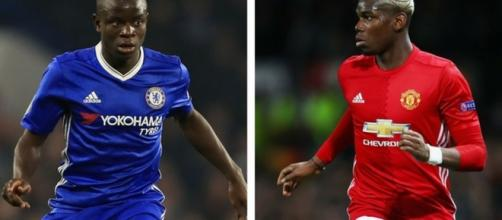 N'golo Kante (Left) and Paul Pogba (Right). The two are arguably the best midfielder in Premier League who hail from one nation. PHOTO/ Flickr