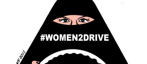 Saudi women finally gain the right to drive. Image by Carlos Latuff via Wikipedia Commons.