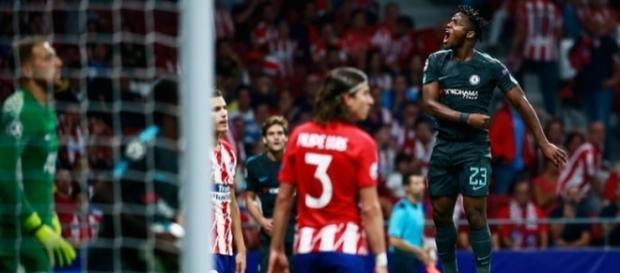 Batshuayi marcó uno de los goles más importantes de su joven carrera. The Guardian.co.uk.