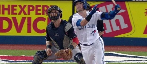 Josh Donaldson delivered three RBIs in Monday's 6-4 win by Toronto over Boston. (Image Credit: MLB/YouTube)