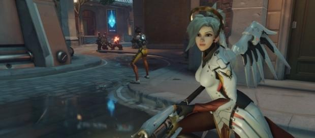 'Overwatch' hero Mercy. (image source: YouTube/GamingTaylor)