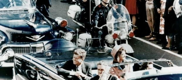 President J.F. Kennedy moments before his assassination. [Image by Walt Cisco / Wikimedia Commons]