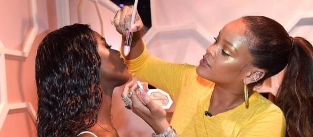 Rihanna lors du lancement de sa gamme de cosmétique Fenty Beauty