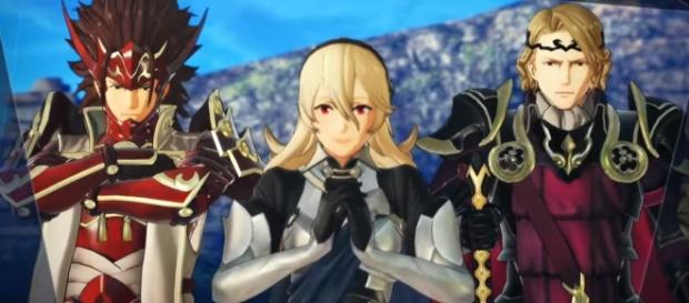 Ryoma, Corrin, and Xander from Fire Emblem Warriors. Credits to: Youtube/Nintendo