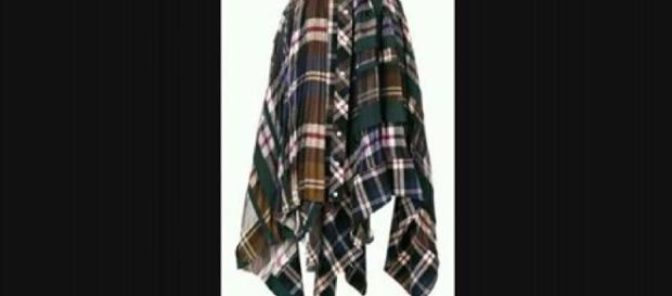 Sacai e la sua gonna scozzese molto glam.