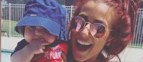 Chelsea Houska and son, Watson [Image by TheFame/YouTube screencap]