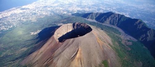 Il Vesuvio in una prospettiva particolare