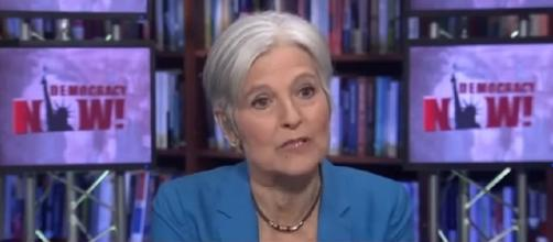 Jill Stein was one of the beneficiaries in Russian-bought political ads [Image via YouTube: Democracy Now!]