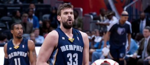 Marc Gasol shoots the free throw | Flickr | Keith Allison