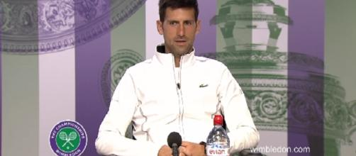 Novak Djokovic during a press conference at 2017 Wimbledon. (Image Credit:Photo: screenshot/Wimbledon official channel on YouTube)