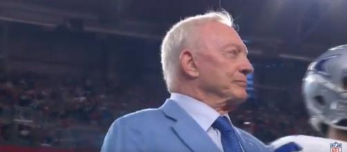 Owner Jerry Jones and the Dallas Cowboys kneeled before a September 25 NFL game - Youtube screen capture / NFL