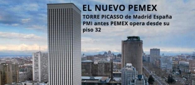 De forma conveniente PMI (antes PEMEX) opera desde el piso 32 de la torre Picasso de Madrid España, filtran 1 Billón 200 mil pesos anuales.