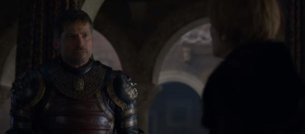 'Game of Thrones' 7x07 - Jaime Lannister leaves King's Landing. (Image Credit: Davos Seaworth/YouTube Screenshot)