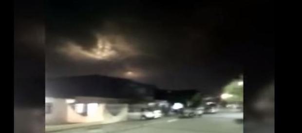 Luzes em cidade colombiana assustaram moradores (Maria Camila Aristizabal Uribe)