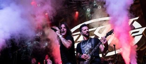 Scott Stapp and guitarist Yiannis Papadopoulos are rocking this summer, and Scott soon will be rocking a new son. Facebook-Used by permission