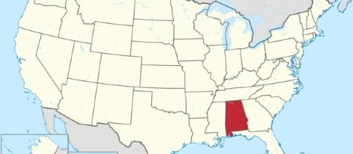 Alabama in the United States [Image via TUBS/Wikimedia Commons]