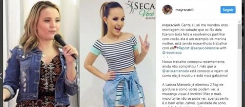Antes e depois da atriz Larissa Manoela
