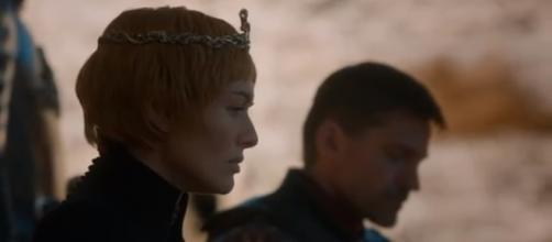 "Cersei and Jaime Lannister at the Dragonpit in ""Game of Thrones"" Season 7. [Image by Hunter / YouTube]"