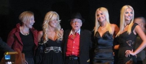 Hugh Hefner and friends circa 2009 (image courtesy of Mark Dunne wikimedia commons)