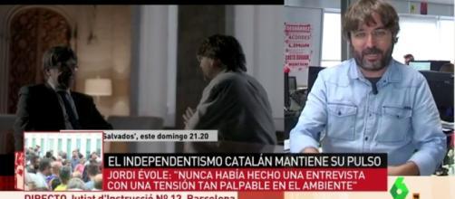 Jordi Évole pone en apuros a Puigdemont
