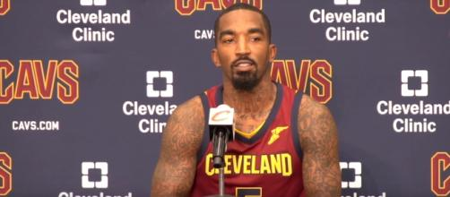 J.R. Smith takes shot at Kyrie Irving. Image Credit: Cleveland Cavaliers on cleveland.com / YouTube