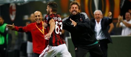 L'esultanza rabbiosa di Cutrone al gol del 3 a 2 sul Rijeka (La Stampa)